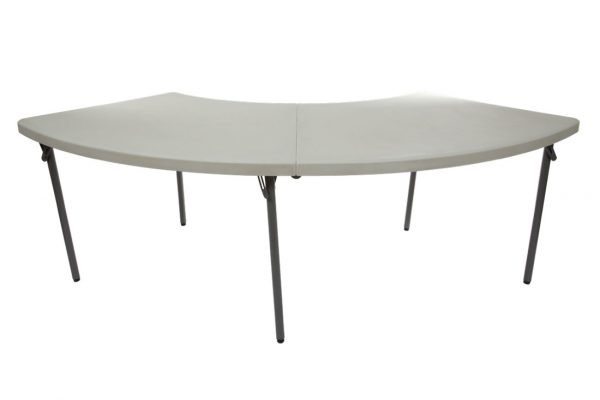 NES Reliable Plastic Folding Serpentine Table