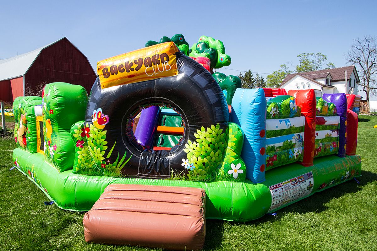backyard toddler air bounce inflatables party rentals in hamilton
