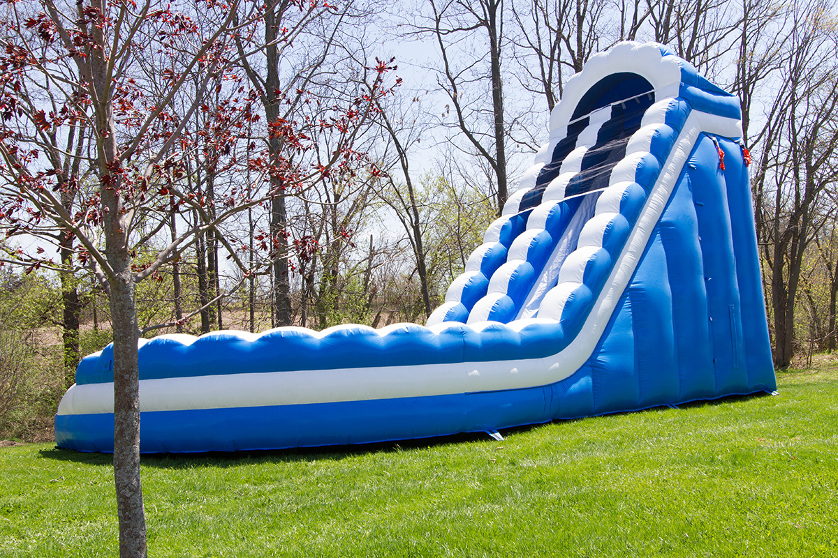 The Curved Waterslide Air Bounce Inflatables Amp Party