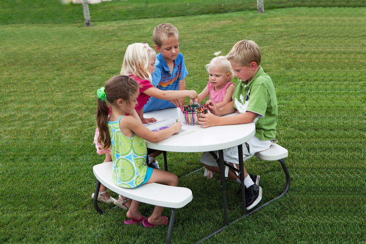 Children S Picnic Table Air Bounce Inflatables Amp Party