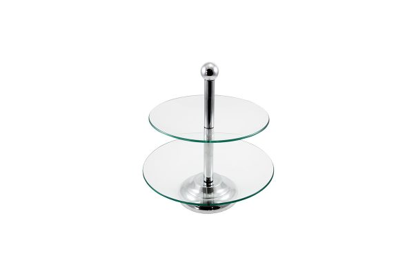 2 Tiered Glass Server