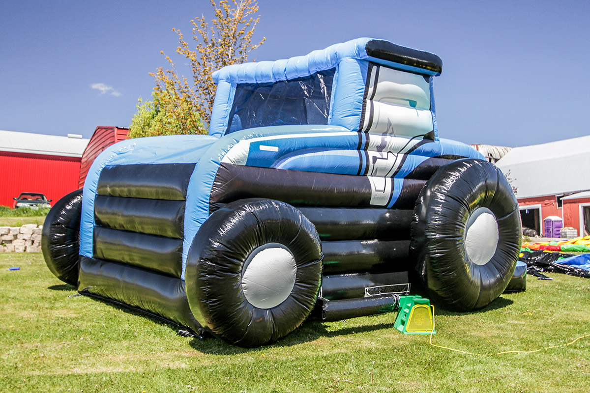 Tractor Bouncer Blue Air Bounce Inflatables Amp Party